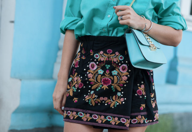 Embroidered Culotte | Zaful