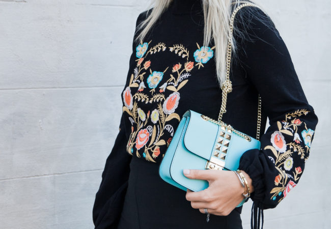 Floral Embroidered Sweater   Zaful