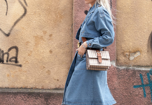 Spring Style : DENIM TRENCH COAT